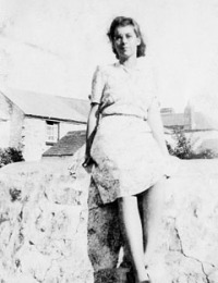 Mollie in Cornwall during World War 2