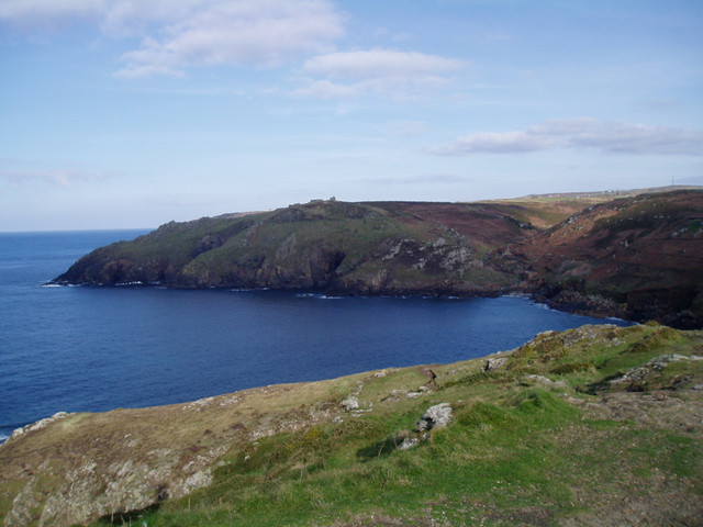 View northwards (away from Sennen) from the stack on Cape Cornwall