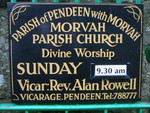 Morvah Parish Church Information Board on gate into churchyard.