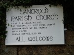 Sancreed Parish Church noticeboard