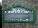 Tregerest Chapel name board