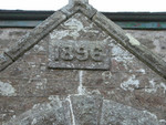 Tregerest Chapel showing the 1896 engraving above entrance.
