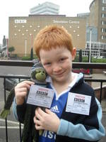 Highlight for album: Max the Monkey's day  out at the BBC